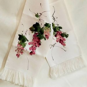 Rare Hand-Painted Silk Scarf